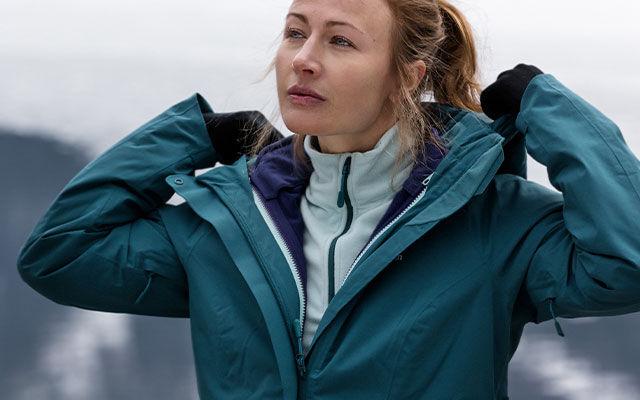 Skijacke Jack Wolfskin Viking Sky Women Grey Haze Damen