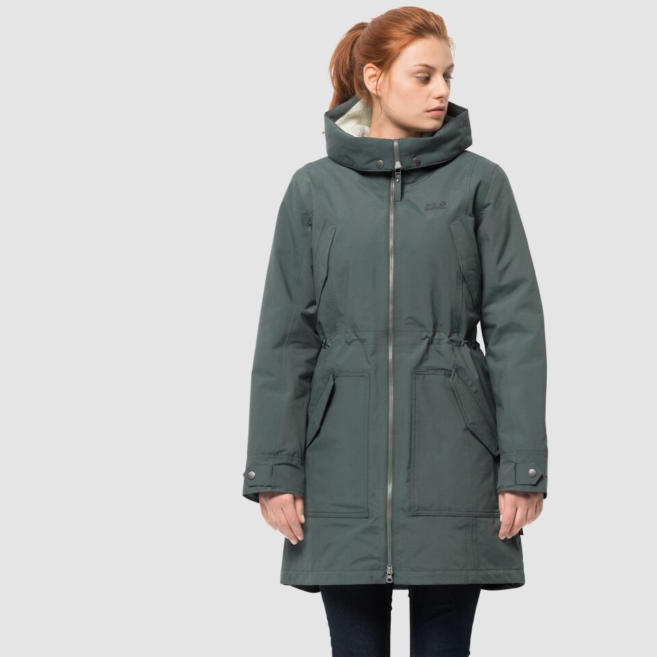 official photos 579a0 61f68 Jack Wolfskin ROCKY POINT PARKA Winter hardshell parka women – JACK WOLFSKIN