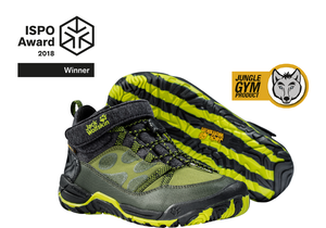 ISPO AWARD – JUNGLE GYM TEXAPORE MID K shoe takes the WINNER AWARD