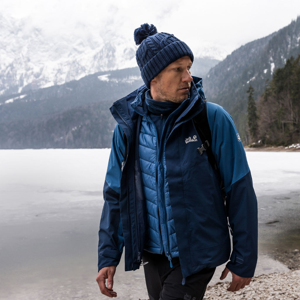 Jack Wolfskin Steting Peak double jacket blue