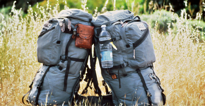 An old image of two Jack Wolfskin backpacks