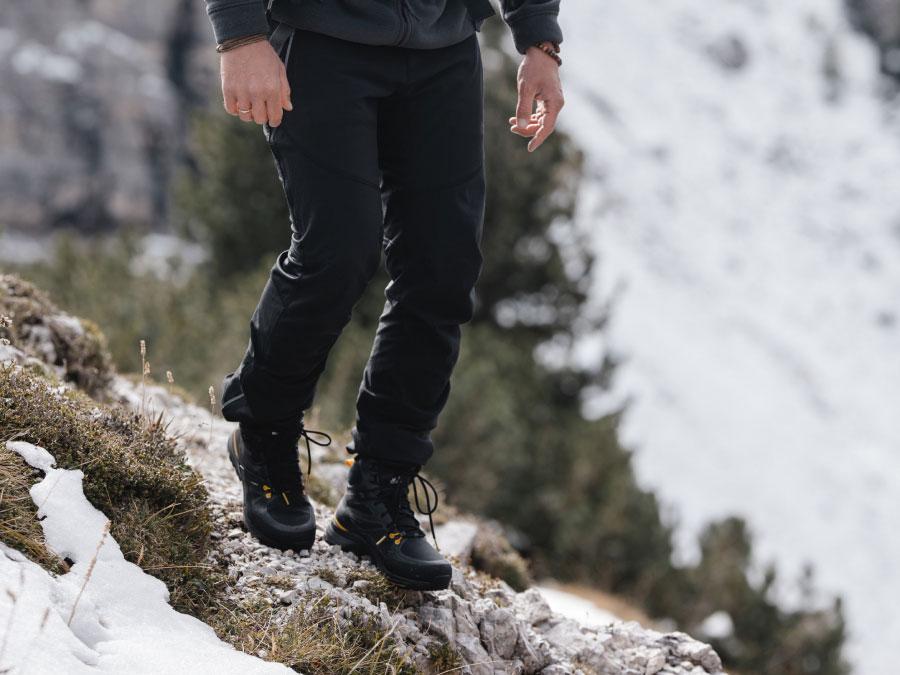 Mountain boots worn at the summit